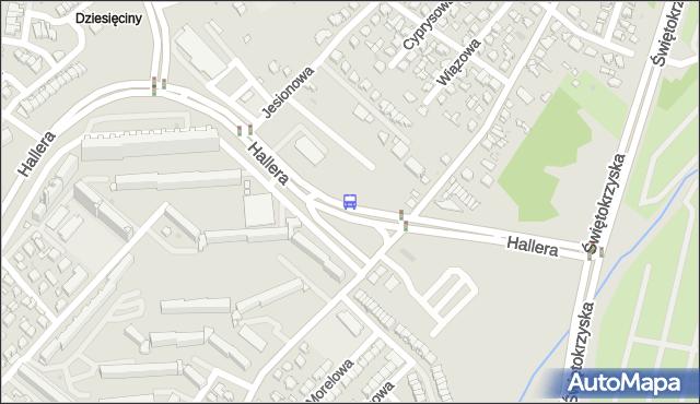 Przystanek GEN. J. HALLERA/DZIESIĘCINY. BKM - Białystok (id 46) na mapie Targeo
