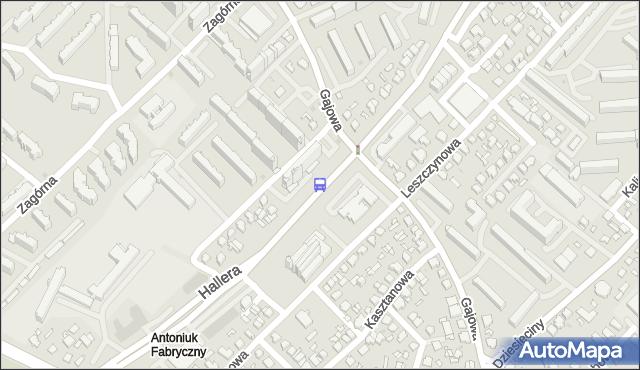 Przystanek Gen. J.Hallera/Gajowa. BKM - Białystok (id 48) na mapie Targeo