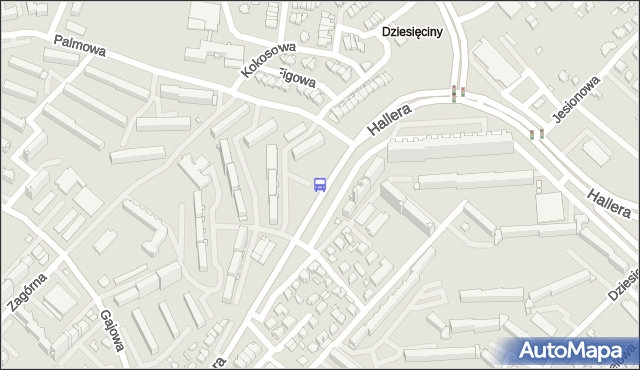 Przystanek Gen. J.Hallera/Palmowa. BKM - Białystok (id 47) na mapie Targeo