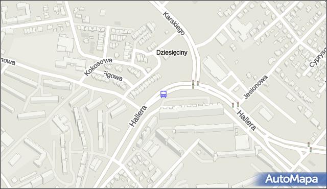 Przystanek Gen. J.Hallera/Parking. BKM - Białystok (id 43) na mapie Targeo