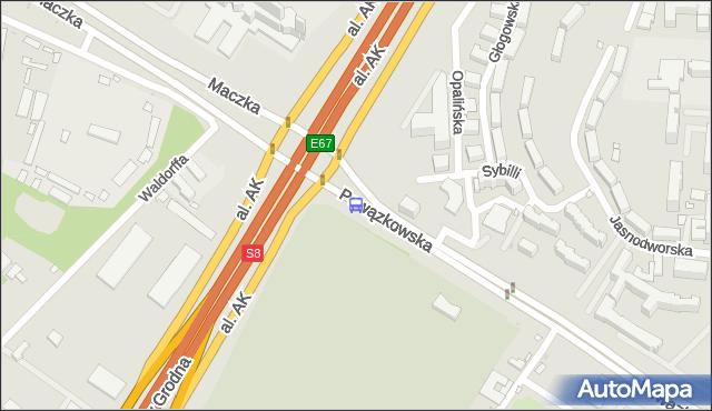 Przystanek gen.Maczka 01. ZTM Warszawa - Warszawa (id 612901) na mapie Targeo