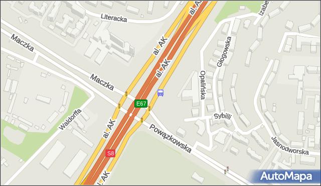 Przystanek gen.Maczka 03. ZTM Warszawa - Warszawa (id 612903) na mapie Targeo