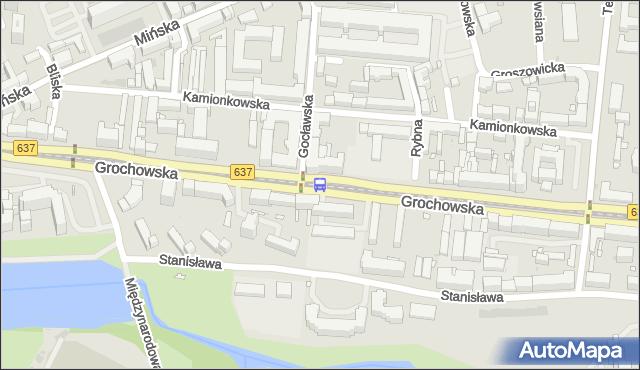 Przystanek Gocławska 03. ZTM Warszawa - Warszawa (id 200403) na mapie Targeo