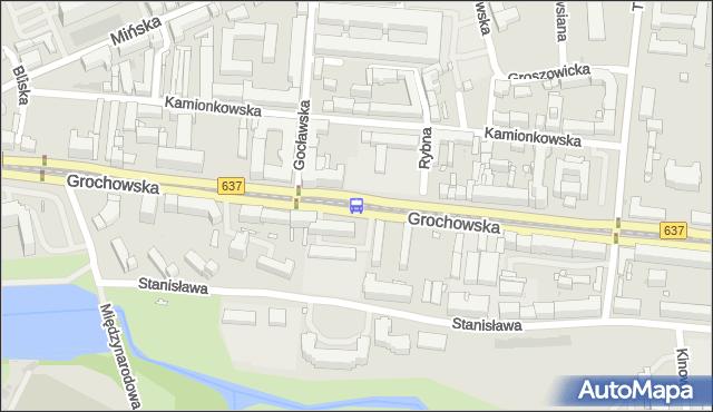 Przystanek Gocławska 04. ZTM Warszawa - Warszawa (id 200404) na mapie Targeo