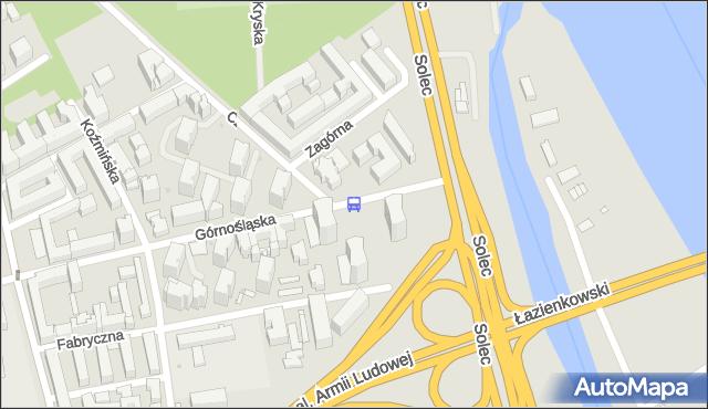 Przystanek Górnośląska 01. ZTM Warszawa - Warszawa (id 707701) na mapie Targeo
