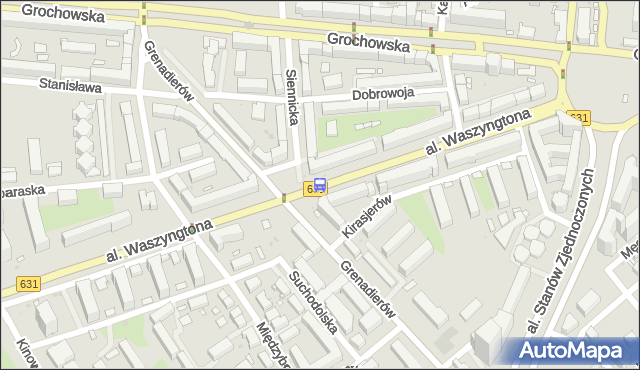 Przystanek Grenadierów 01. ZTM Warszawa - Warszawa (id 213401) na mapie Targeo