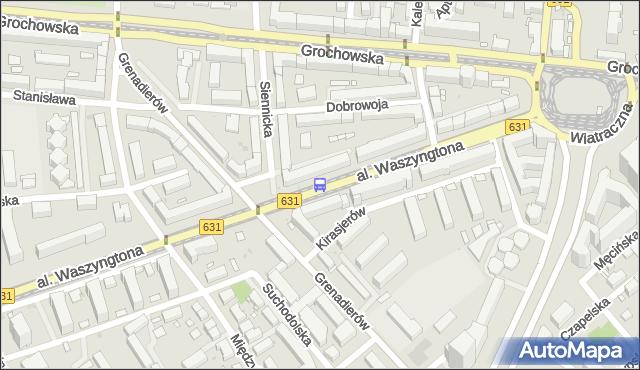 Przystanek Grenadierów 03. ZTM Warszawa - Warszawa (id 213403) na mapie Targeo