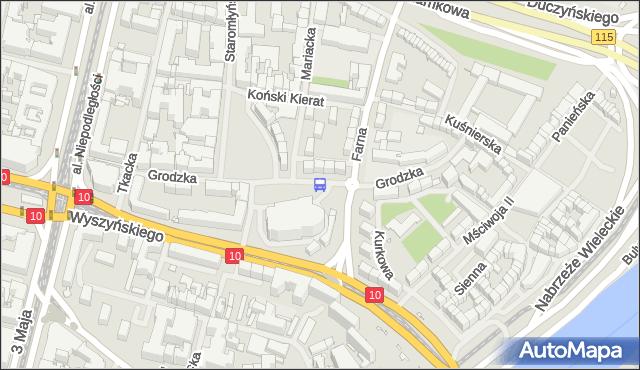 Przystanek Grodzka 11. ZDiTM Szczecin - Szczecin (id 11011) na mapie Targeo