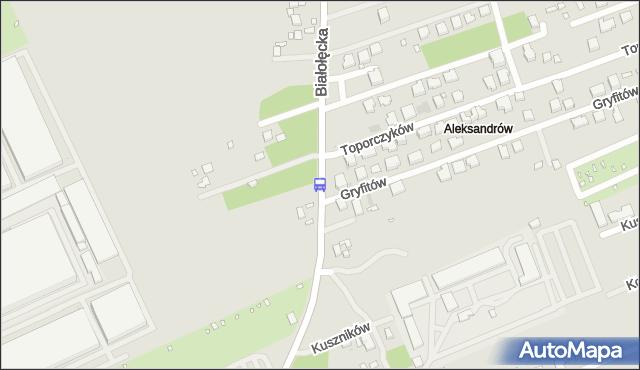 Przystanek Gryfitów 01. ZTM Warszawa - Warszawa (id 116701) na mapie Targeo