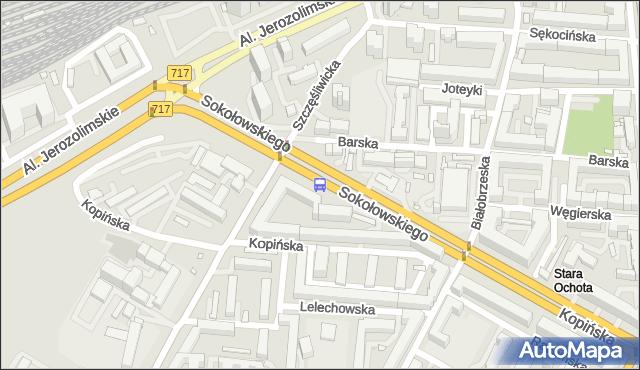 Przystanek Grzymały-Sokołowskiego 03. ZTM Warszawa - Warszawa (id 404303) na mapie Targeo