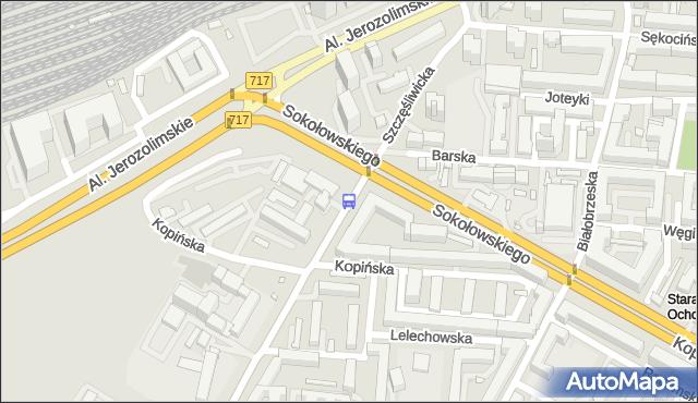 Przystanek Grzymały-Sokołowskiego 06. ZTM Warszawa - Warszawa (id 404306) na mapie Targeo