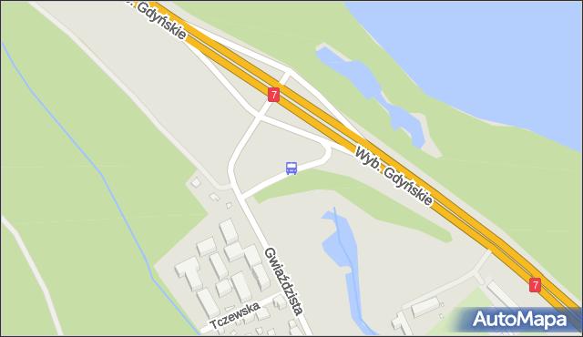 Przystanek Gwiaździsta 06. ZTM Warszawa - Warszawa (id 608206) na mapie Targeo
