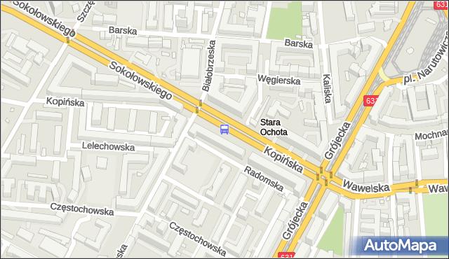 Przystanek Hala Kopińska 01. ZTM Warszawa - Warszawa (id 411601) na mapie Targeo