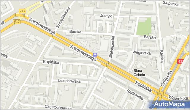 Przystanek Hala Kopińska 02. ZTM Warszawa - Warszawa (id 411602) na mapie Targeo