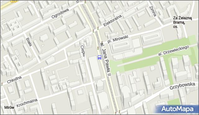 Przystanek Hala Mirowska 01. ZTM Warszawa - Warszawa (id 708601) na mapie Targeo