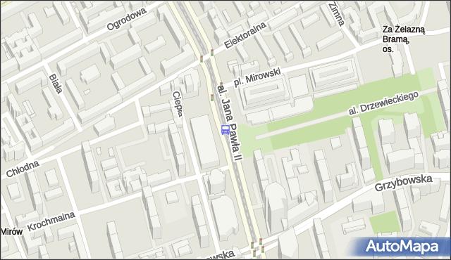 Przystanek Hala Mirowska 03. ZTM Warszawa - Warszawa (id 708603) na mapie Targeo