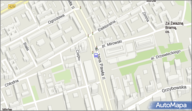 Przystanek Hala Mirowska 04. ZTM Warszawa - Warszawa (id 708604) na mapie Targeo