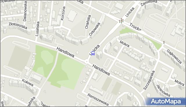 Przystanek Handlowa 02. ZTM Warszawa - Warszawa (id 113902) na mapie Targeo