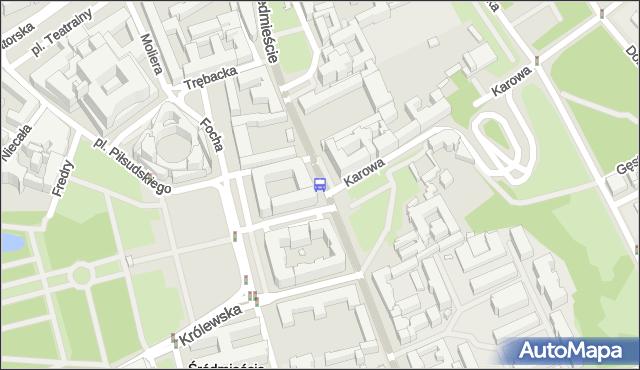Przystanek Hotel Bristol 01. ZTM Warszawa - Warszawa (id 704501) na mapie Targeo