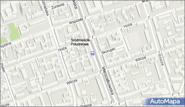 Przystanek Hoża 01. ZTM Warszawa - Warszawa (id 701201) na mapie Targeo
