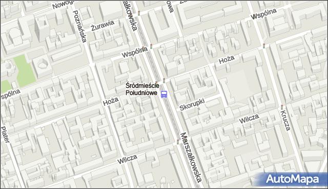 Przystanek Hoża 04. ZTM Warszawa - Warszawa (id 701204) na mapie Targeo