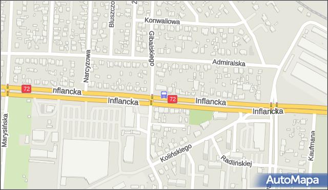 Przystanek Inflancka - Gibalskiego. MPKLodz - Łódź (id 211) na mapie Targeo