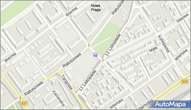 Przystanek Inżynierska 01. ZTM Warszawa - Warszawa (id 106601) na mapie Targeo