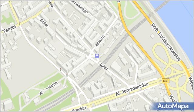 Przystanek Jaracza 02. ZTM Warszawa - Warszawa (id 706302) na mapie Targeo