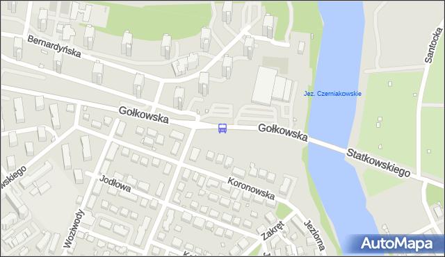 Przystanek Jeziorko Czerniakowskie 01. ZTM Warszawa - Warszawa (id 309001) na mapie Targeo
