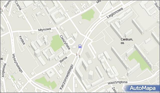 Przystanek KACZOROWSKIEGO/CIESZYŃSKA. BKM - Białystok (id 220) na mapie Targeo
