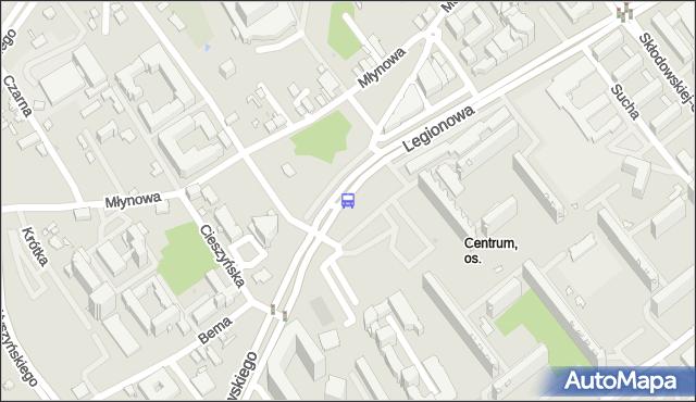 Przystanek KACZOROWSKIEGO/OPERA PODLASKA. BKM - Białystok (id 222) na mapie Targeo