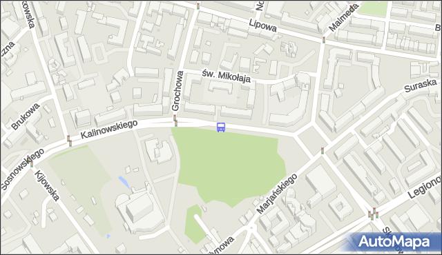 Przystanek KALINOWSKIEGO/TEATR LALEK. BKM - Białystok (id 446) na mapie Targeo