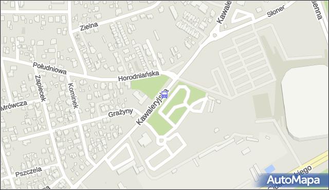 Przystanek Kawaleryjska/Bazar. BKM - Białystok (id 148) na mapie Targeo