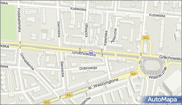 Przystanek Kickiego 02. ZTM Warszawa - Warszawa (id 200702) na mapie Targeo