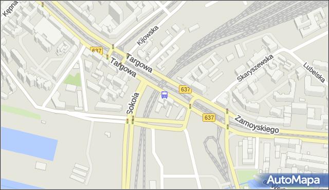 Przystanek Kijowska 01. ZTM Warszawa - Warszawa (id 100101) na mapie Targeo