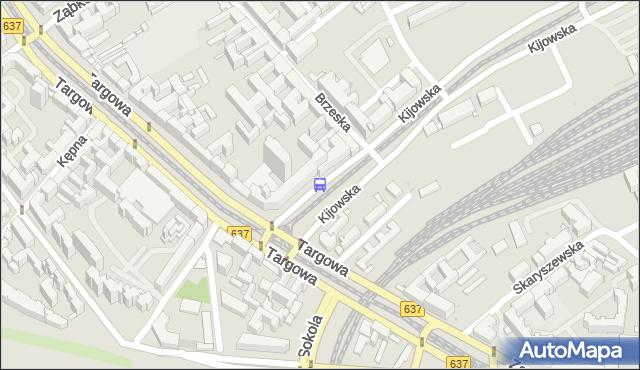 Przystanek Kijowska 07. ZTM Warszawa - Warszawa (id 100107) na mapie Targeo