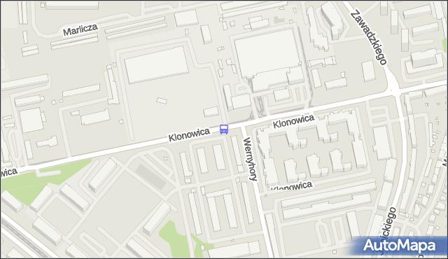 Przystanek Klonowica Zajezdnia 31. ZDiTM Szczecin - Szczecin (id 32631) na mapie Targeo