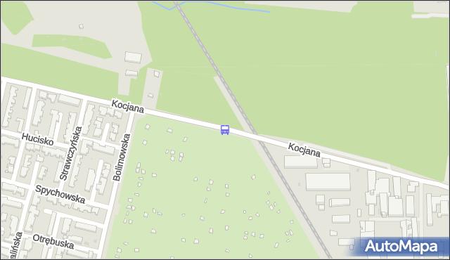 Przystanek Kocjana-Bocznica 01. ZTM Warszawa - Warszawa (id 508001) na mapie Targeo