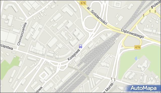 Przystanek KOLEJOWA/PKP. BKM - Białystok (id 596) na mapie Targeo