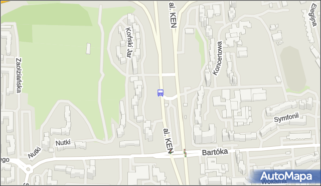 Przystanek Koncertowa 01. ZTM Warszawa - Warszawa (id 329801) na mapie Targeo