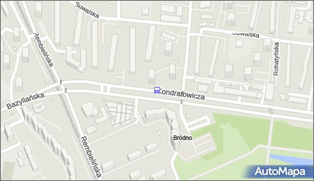 Przystanek Kondratowicza 03. ZTM Warszawa - Warszawa (id 108503) na mapie Targeo