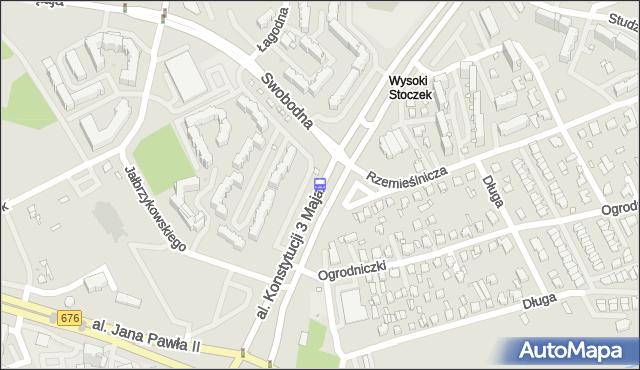 Przystanek Konst.3 Maja/Swobodna. BKM - Białystok (id 165) na mapie Targeo