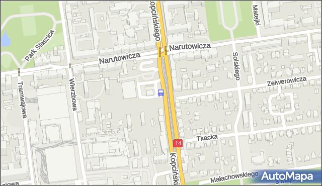 Przystanek Kopcińskiego - Narutowicza. MPKLodz - Łódź (id 368) na mapie Targeo