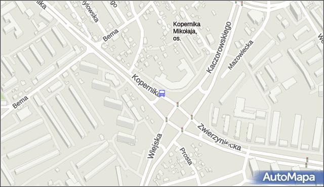 Przystanek KOPERNIKA/KACZOROWSK. BKM - Białystok (id 224) na mapie Targeo