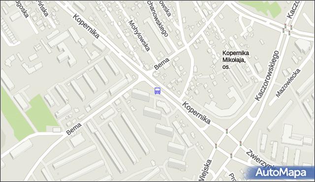 Przystanek Kopernika/Os. Bema. BKM - Białystok (id 173) na mapie Targeo