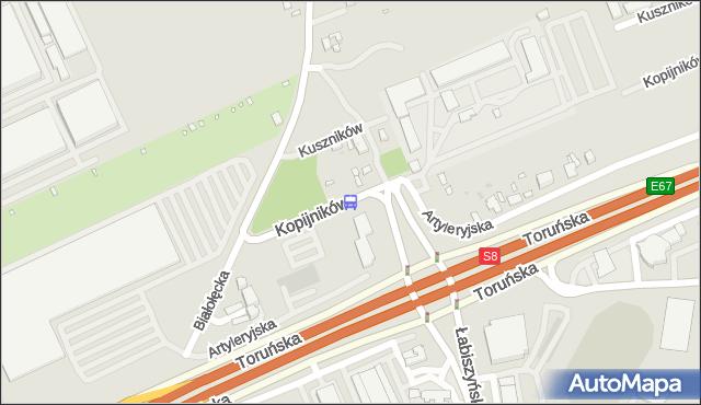 Przystanek Kopijników 01. ZTM Warszawa - Warszawa (id 116601) na mapie Targeo