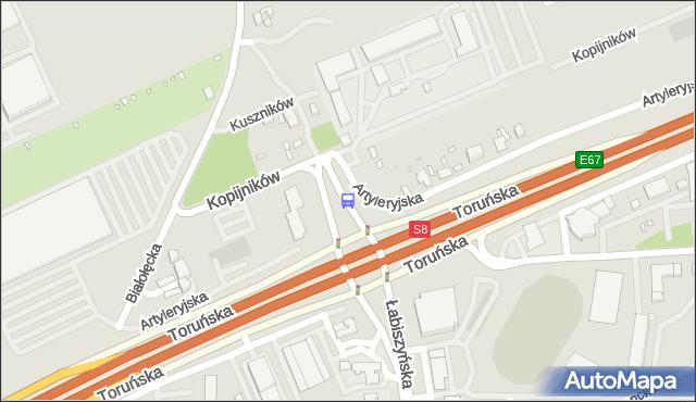 Przystanek Kopijników 02. ZTM Warszawa - Warszawa (id 116602) na mapie Targeo