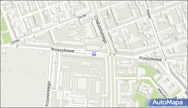 Przystanek Koszykowa 01. ZTM Warszawa - Warszawa (id 708901) na mapie Targeo