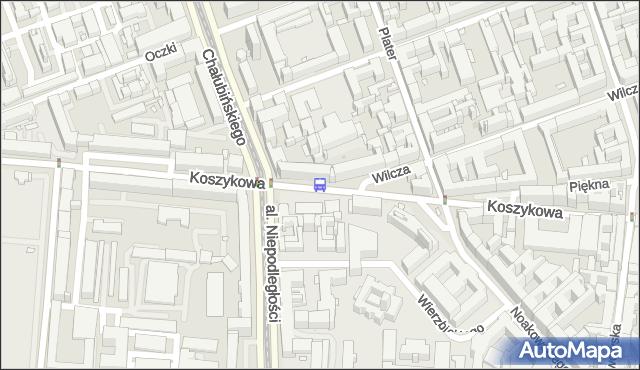 Przystanek Koszykowa 02. ZTM Warszawa - Warszawa (id 708902) na mapie Targeo
