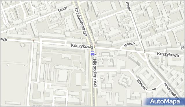 Przystanek Koszykowa 04. ZTM Warszawa - Warszawa (id 708904) na mapie Targeo